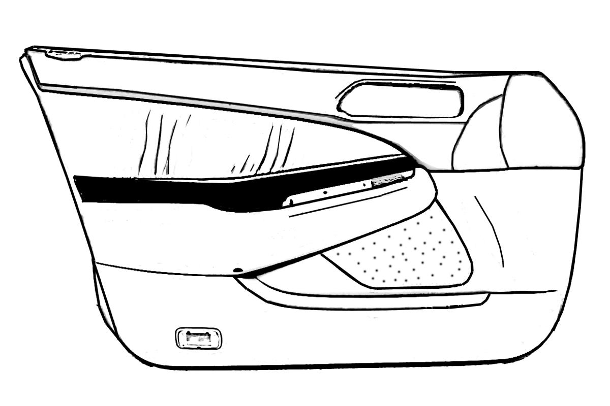 buy 1999 honda prelude door trim    liner front passenger