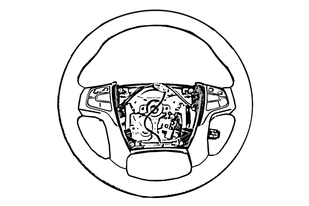 buy  45 2003 acura tl type s steering wheel blk faded top