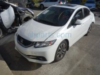 2013 Honda Civic Rear passenger DOOR WHITE Replacement