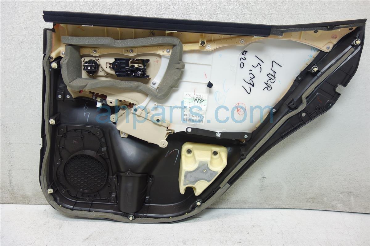 2010 Lexus Hs250h Panel Rear driver DOOR TRIM LINER BLACK IVORY 67640 75010 E2 6764075010E2 Replacement