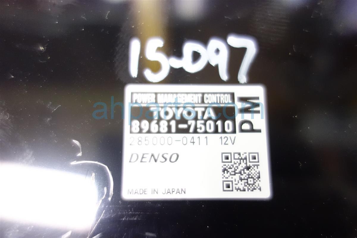 2010 Lexus Hs250h POWER MANAGEMENT CONTROL 89681 75010 Replacement
