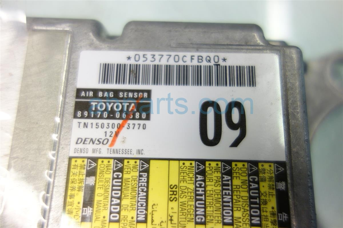 2011 Toyota Camry SRS AIRBAG COMPUTER MODULE Replacement