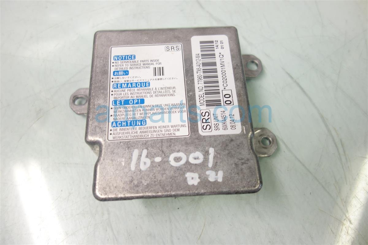 2013 Acura ILX SRS UNIT BAD 77960 TX6 A01 77960TX6A01 Replacement