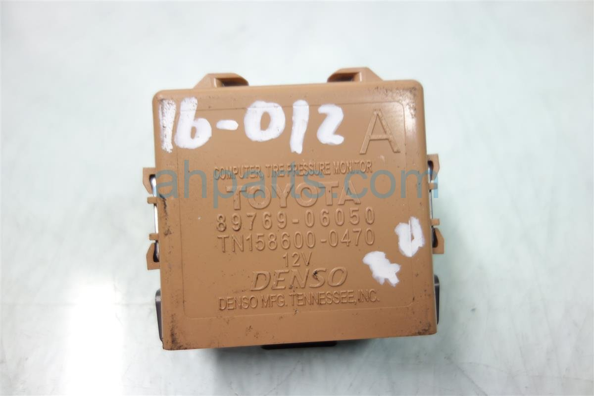 2011 Toyota Camry TPMS COMPUTER 89769 06050 Replacement