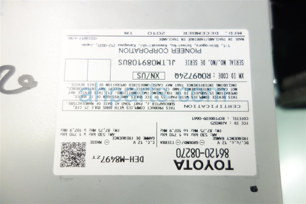 2011 Toyota Sienna AM FM 6 DISC CD RADIO Replacement