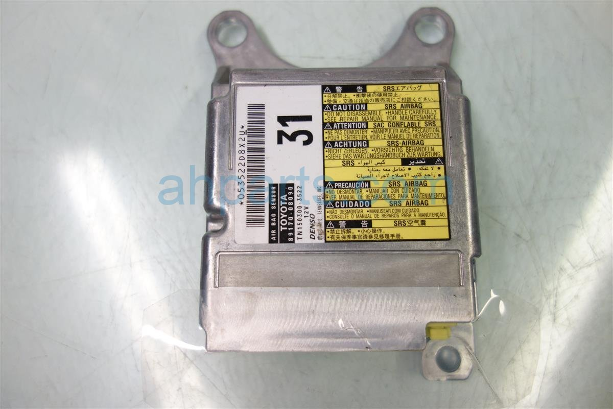 2011 Toyota Sienna Srs Airbag Computer Module Replacement