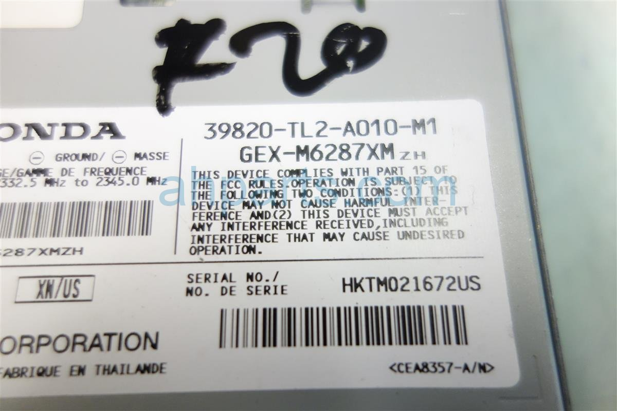 2010 Acura TSX XM UNIT 39820 TL2 A01 39820TL2A01 Replacement