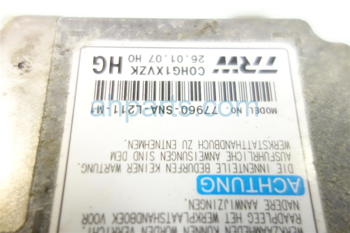 2007 Honda Civic SRS COMPUTER BAD 77960 SNA L21 77960SNAL21 Replacement