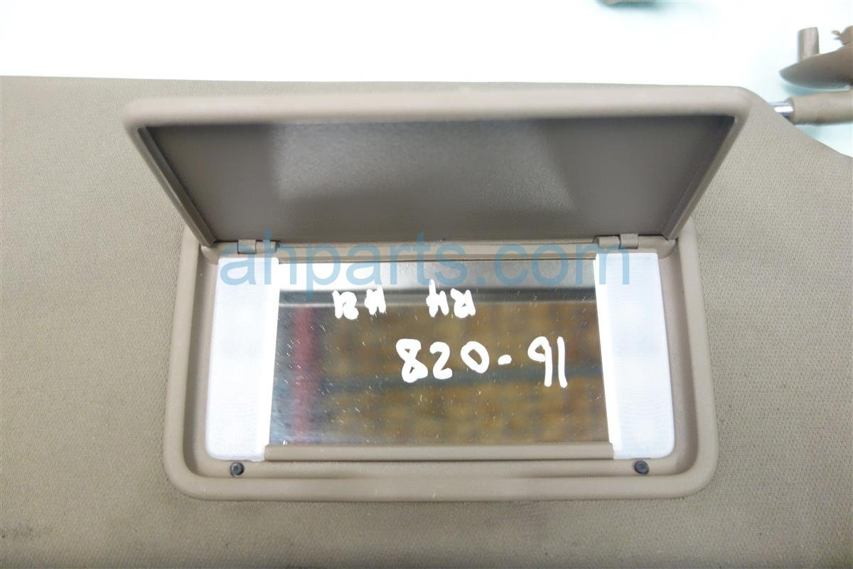 2013 Honda Pilot Passenger SUN VISOR TAN 83230 SZA A04ZC 83230SZAA04ZC Replacement
