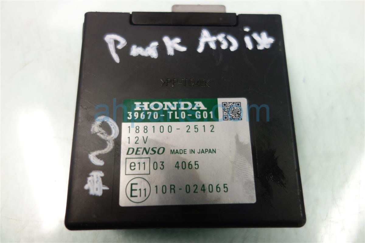 2010 Honda Pilot PARKING ASSIST CONTROL 39670 TL0 G01 39670TL0G01 Replacement