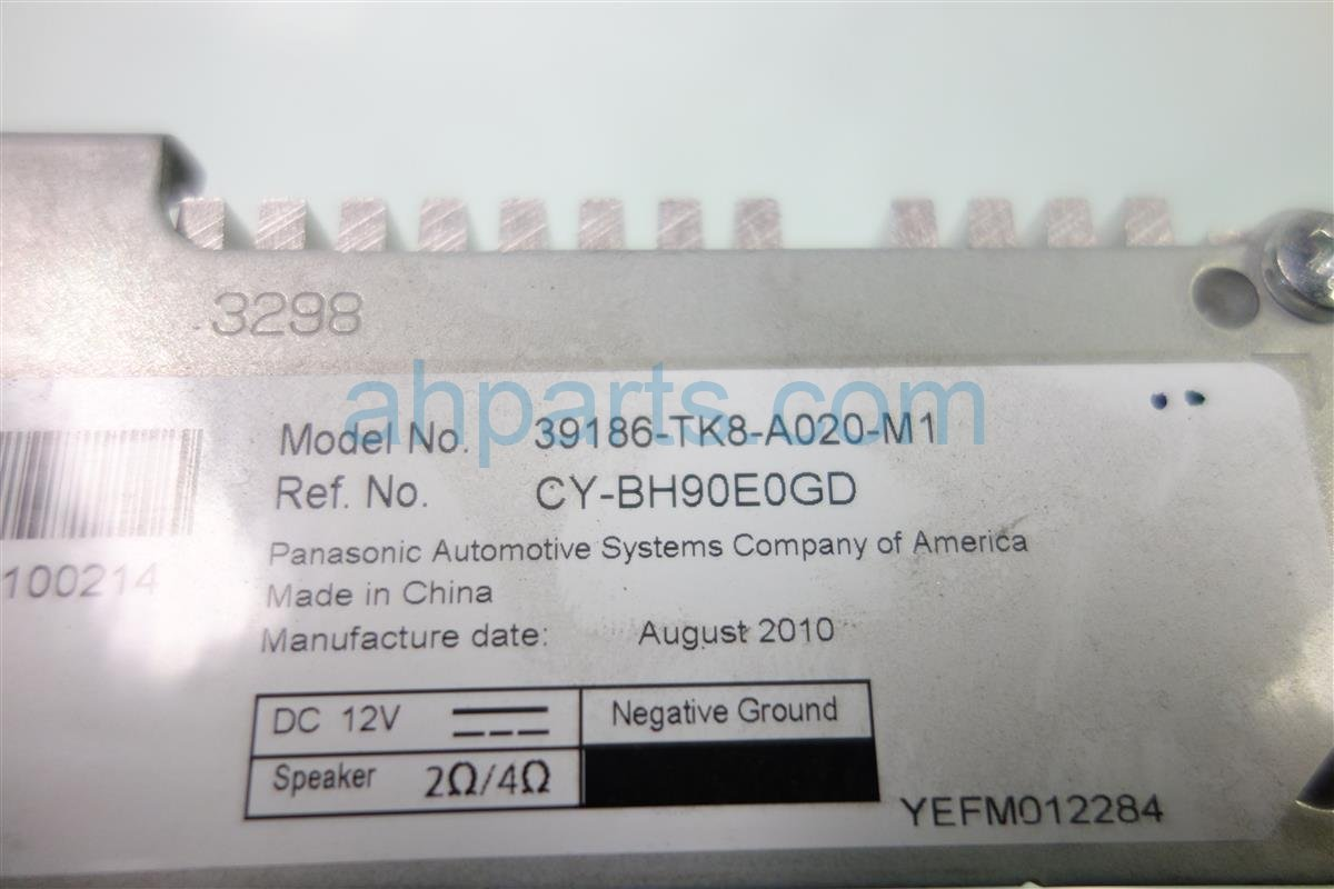 2011 Honda Odyssey AUDIO AMPLIFIER 39186 TK8 A02 39186TK8A02 Replacement