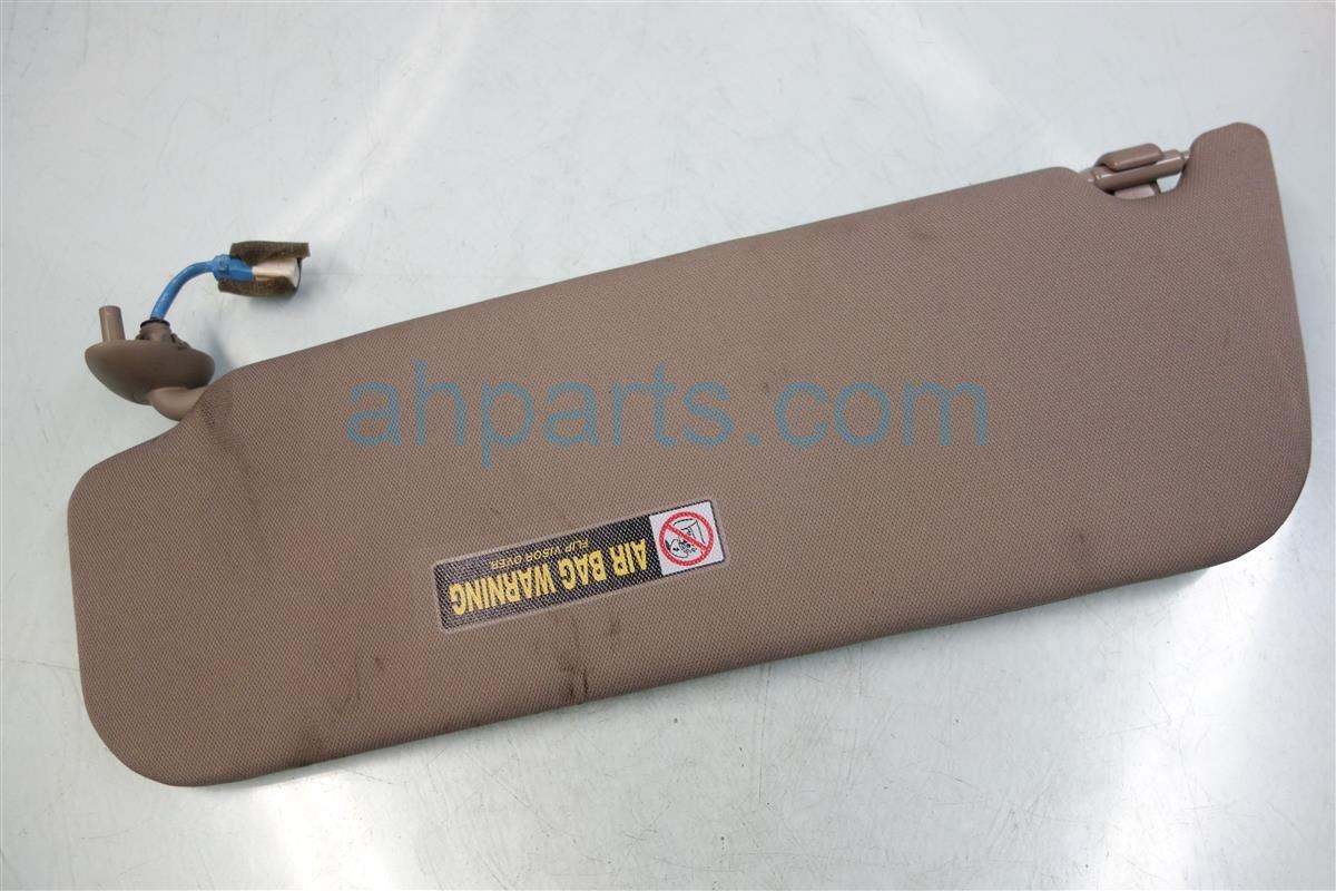 2011 Honda Odyssey Passenger SUN VISOR TAN 83230 TK8 A01ZC 83230TK8A01ZC Replacement