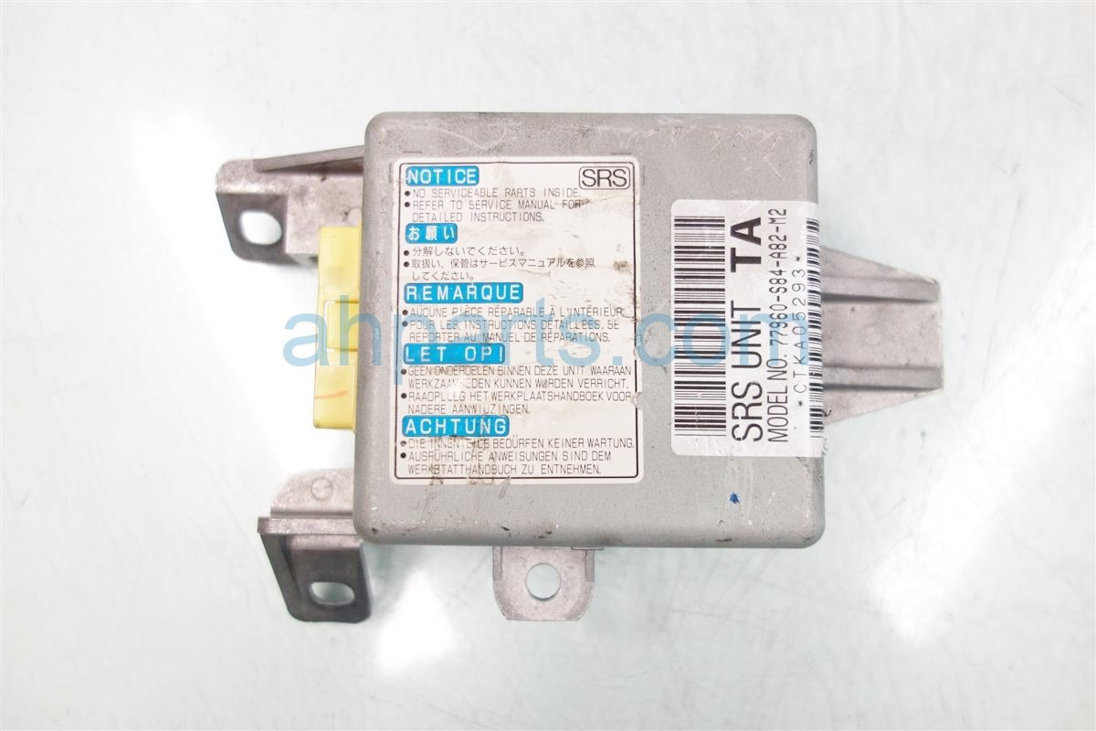 1999 Honda Accord SRS AIRBAG COMPUTER MODULE 77960 S84 A82 77960S84A82 Replacement
