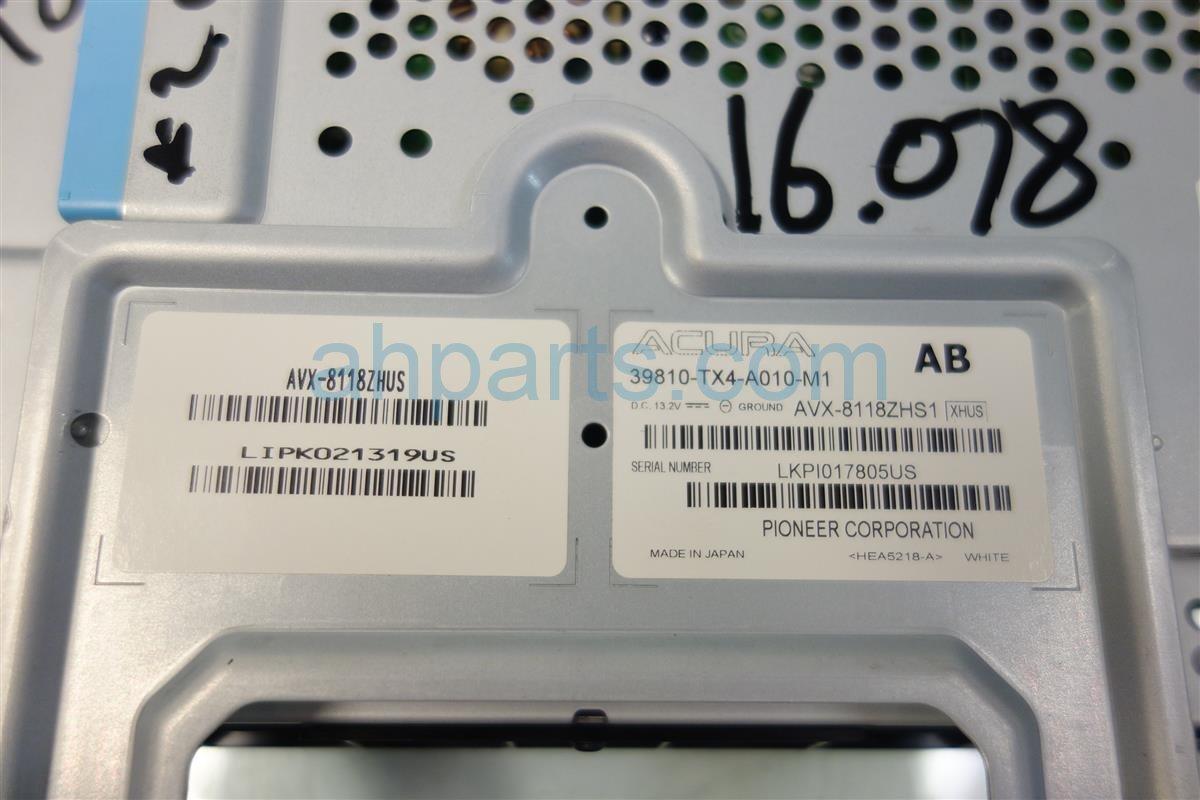 2013 Acura RDX NAVIGATION SCREEN 39810 TX4 305 39810TX4305 Replacement