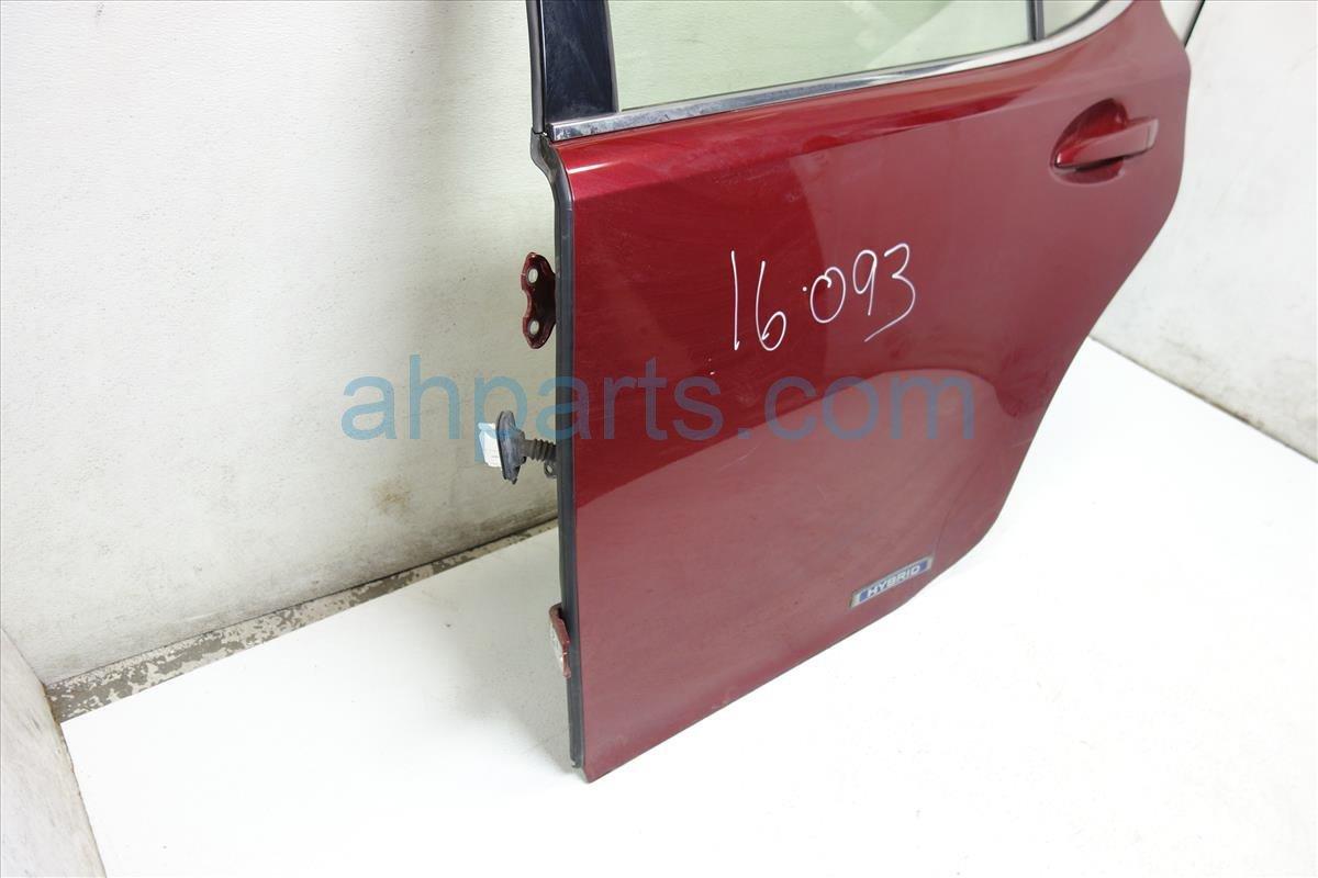 2013 Lexus Es300h Rear driver DOOR BURGUNDY Replacement