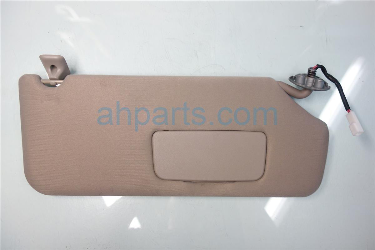2013 Toyota Sienna Passenger SUN VISOR TAN 74310 08030 E0 7431008030E0 Replacement