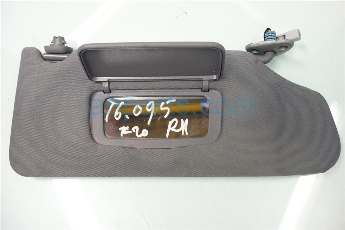 2008 Acura TL Passenger SUN VISOR GREY 83230 SEP A02ZA 83230SEPA02ZA Replacement