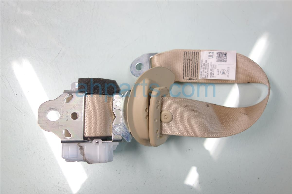 2015 Toyota Highlander Rear 2ND ROW Driver SEAT BELT TAN Replacement