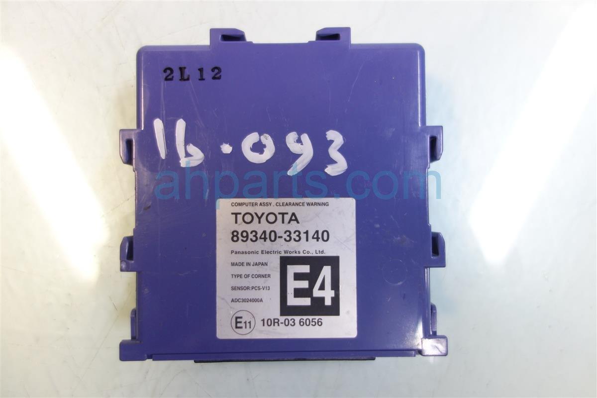 2013 Lexus Es300h PARKING ASSIST MODULE CONTROL 89340 33140 8934033140 Replacement