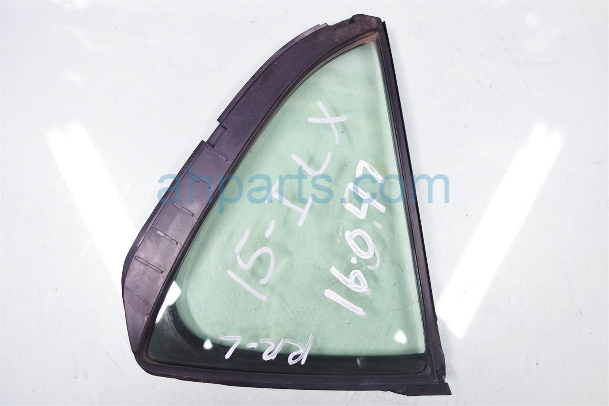 2013 Acura ILX Door Rear driver VENT GLASS WINDOW 73455 TX6 305 73455TX6305 Replacement