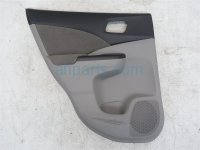 2013 Honda CR V Trim liner Rear driver DOOR PANEL LINING GRAY CLOTH 83752 T0J A01ZE 83752T0JA01ZE Replacement
