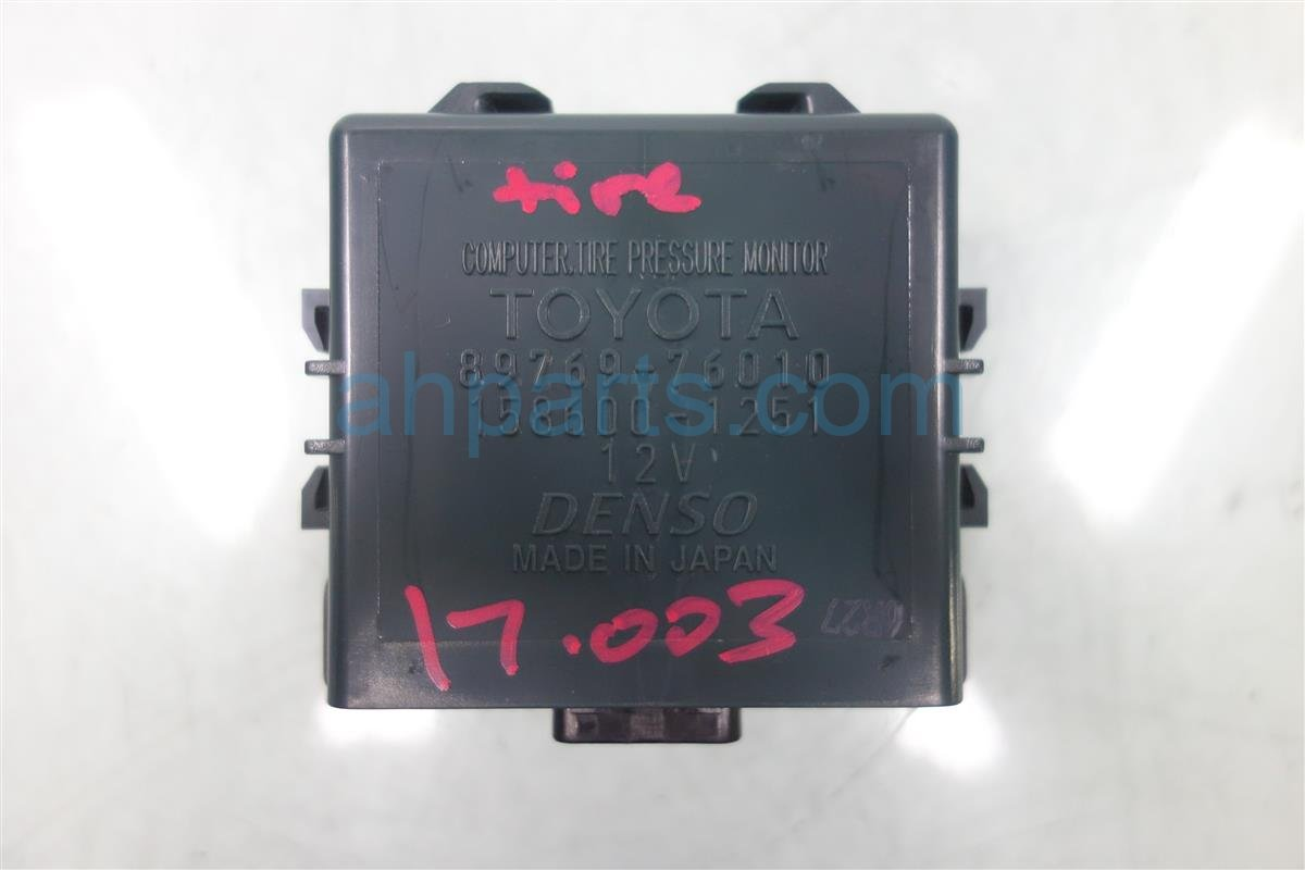 2014 Lexus Ct200h Tire Pressure Monitor Computer 89769 76010 8976976010 Replacement