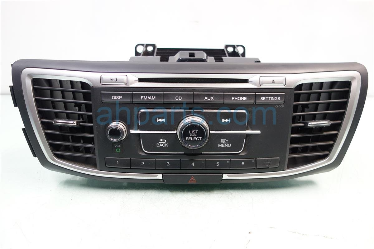 2013 Honda Accord AM FM CD RADIO SINGLE DISC 39100 T2A A10 39100T2AA10 Replacement