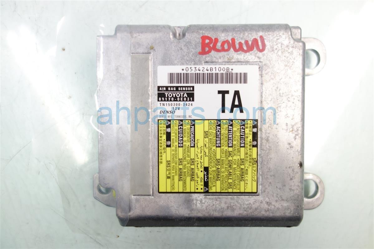 2012 Lexus Rx350 SRS CONTROL MODULE BAD NEEDS RESET 89170 0E031 891700E031 Replacement