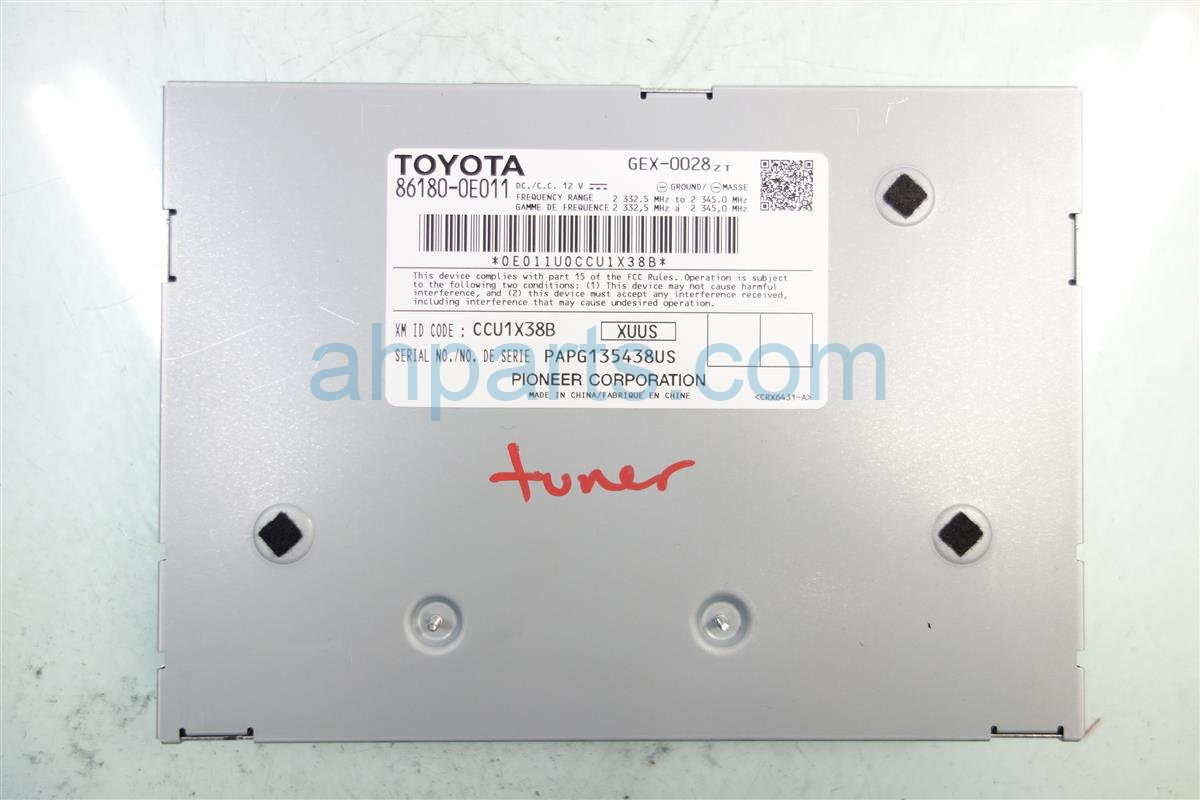 2016 Toyota Avalon AUDIO TUNER 86180 0E011 861800E011 Replacement