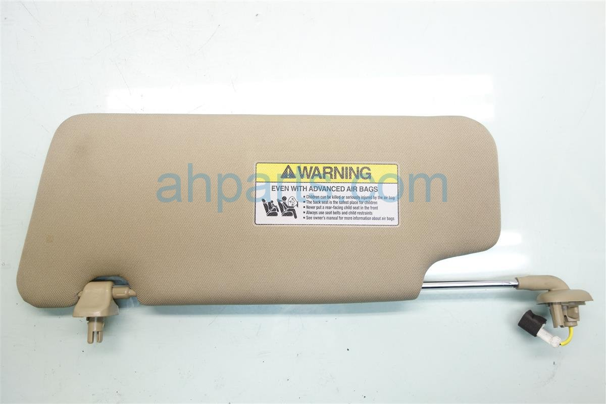 2017 Acura ILX Passenger SUN VISOR TAN 83230 TV9 A82ZA 83230TV9A82ZA Replacement
