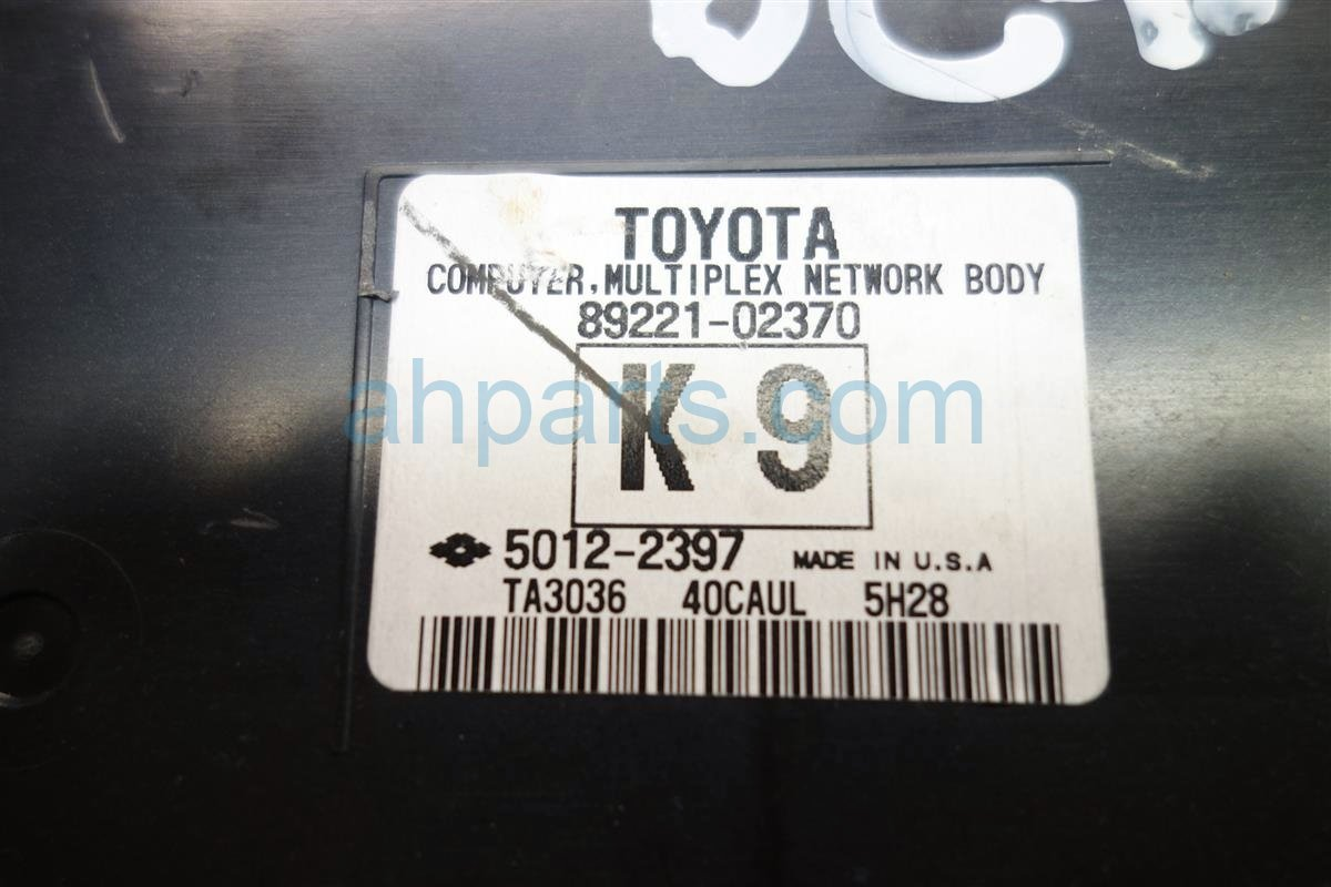 2016 Toyota Corolla Dash Fuse Box With Multiplex Unit 82730 02f40 2010 S Replacement