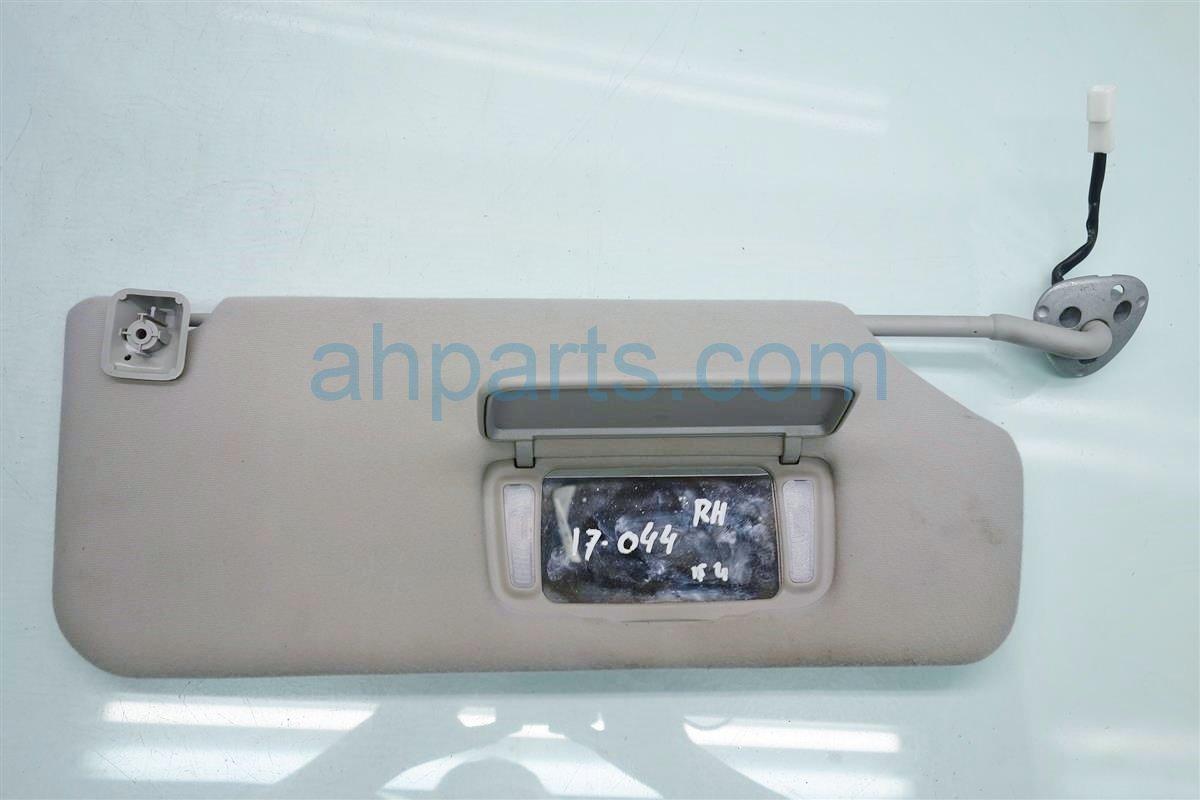 2014 Toyota Sienna Passenger SUN VISOR GRAY Replacement