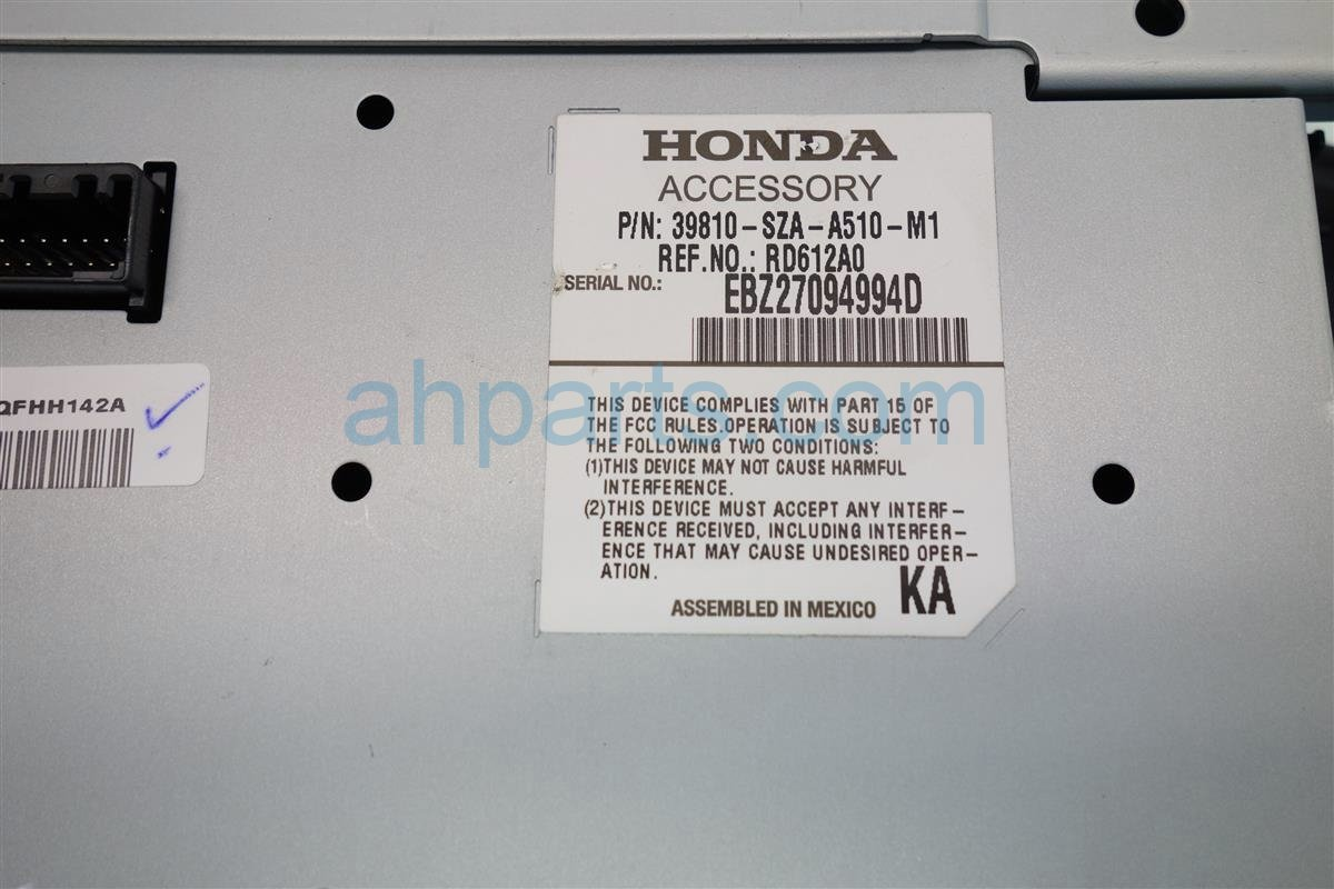 2014 Honda Pilot NAVIGATION DISPLAY SCREEN 39810 SZA A51 39810SZAA51 Replacement