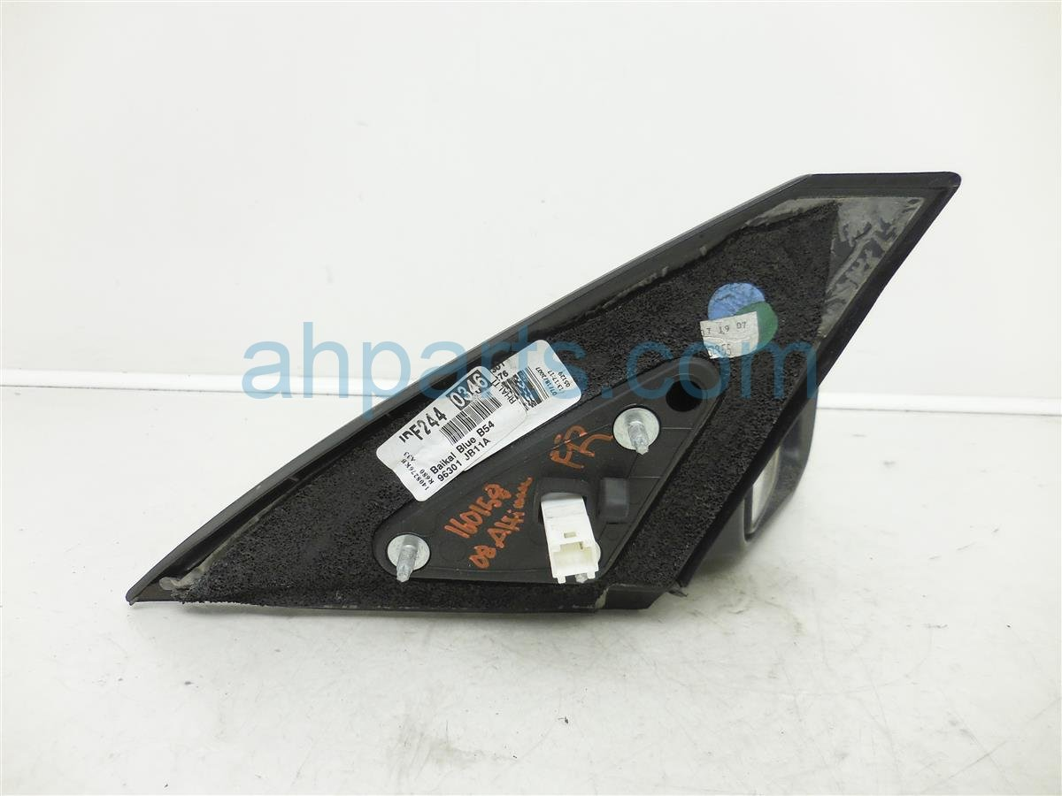 2008 Nissan Altima Rear Passenger Side View Mirror Blue W O Sig Parts 96301 Jb13e Replacement