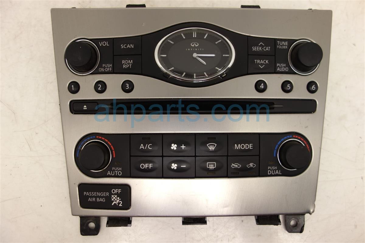 2011 Infiniti G37 Temperature Ac Heater Control Dual Climate Radio Switch Panel Replacement