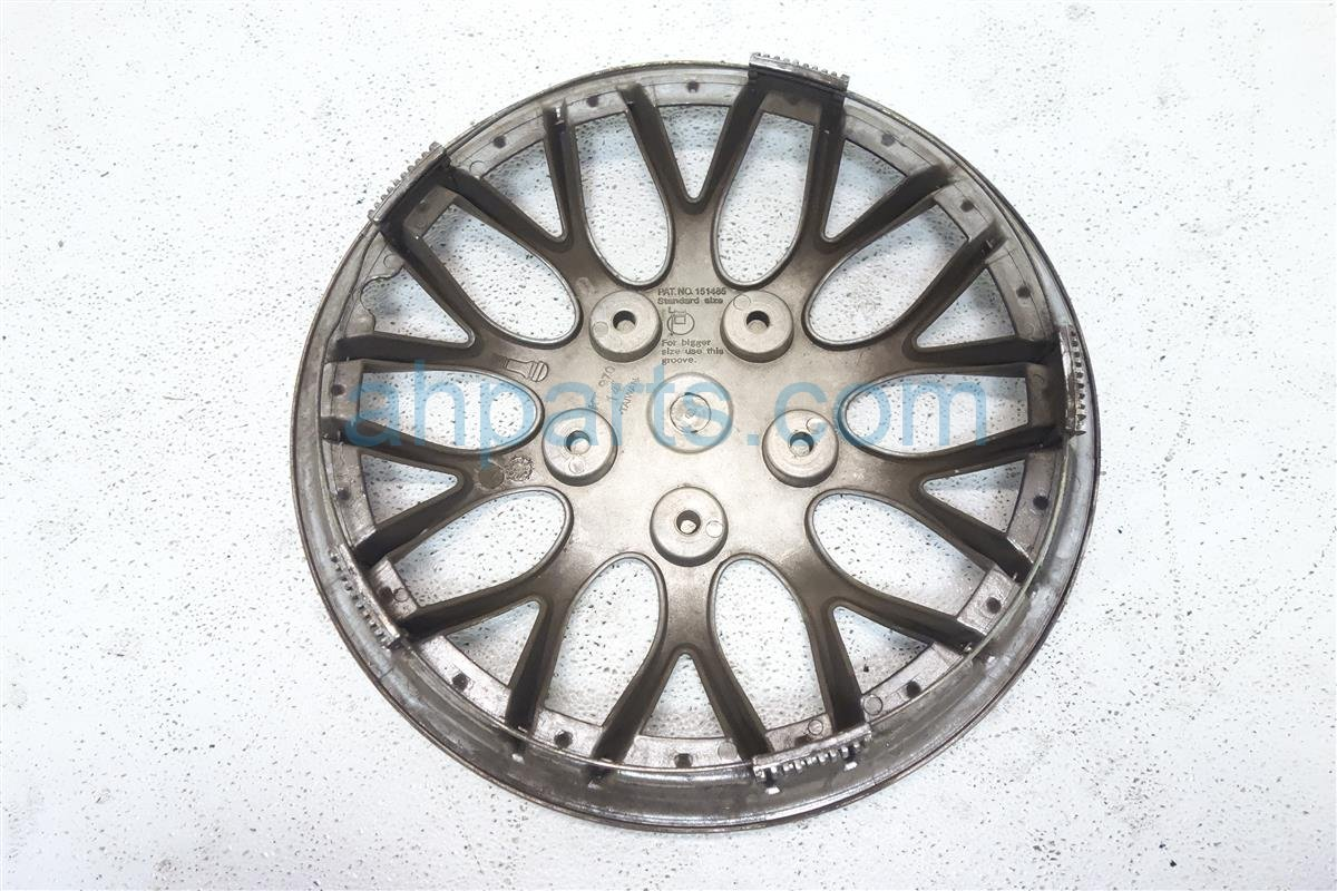 2001 Honda Civic Wheel Cover Front Driver Blk/silver Hub Cap Aftermarket Replacement