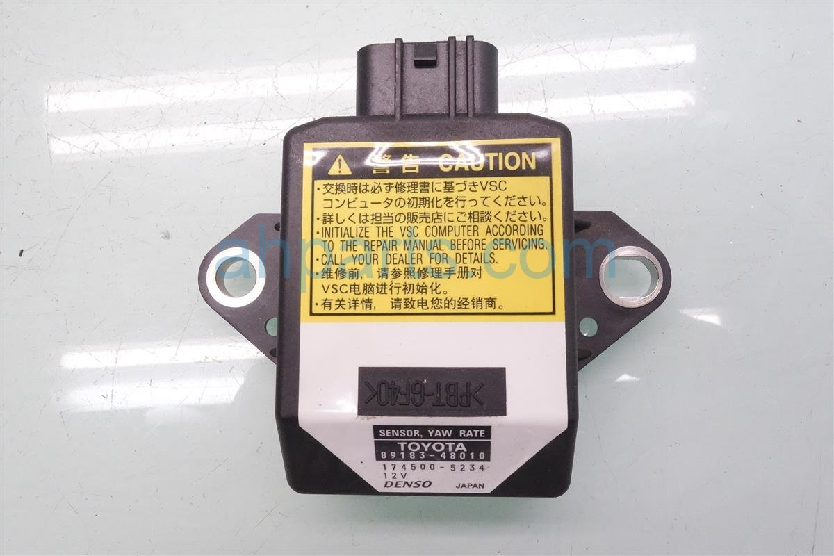 2007 Toyota Prius Yaw Rate Sensor 89183 48010 Replacement