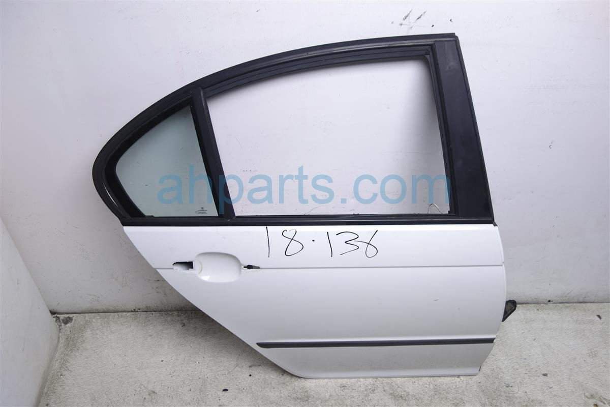 2002 BMW 325i Rear Passenger Door   Shell Only White 41 52 7 034 156 Replacement