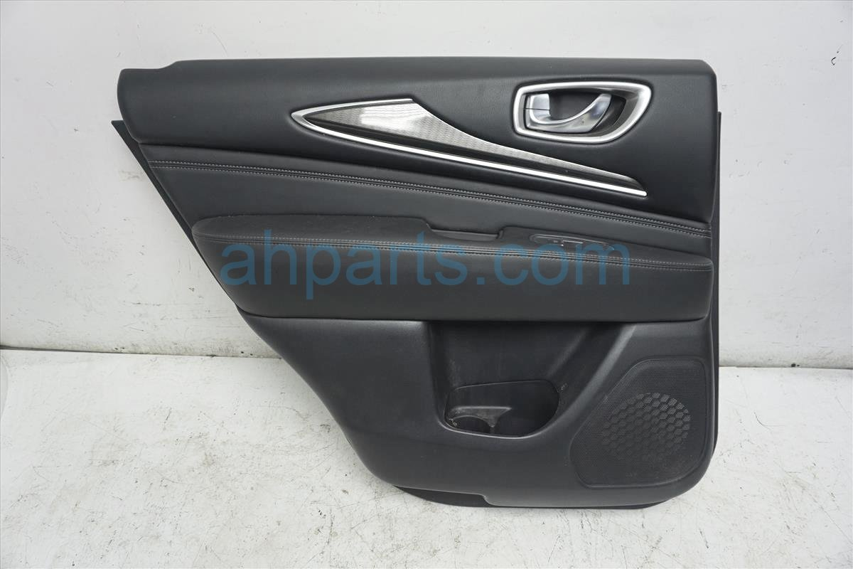 2017 Infiniti Qx60 Rear Driver Door Panel (trim Liner)   Black 829A1 9NF0A Replacement