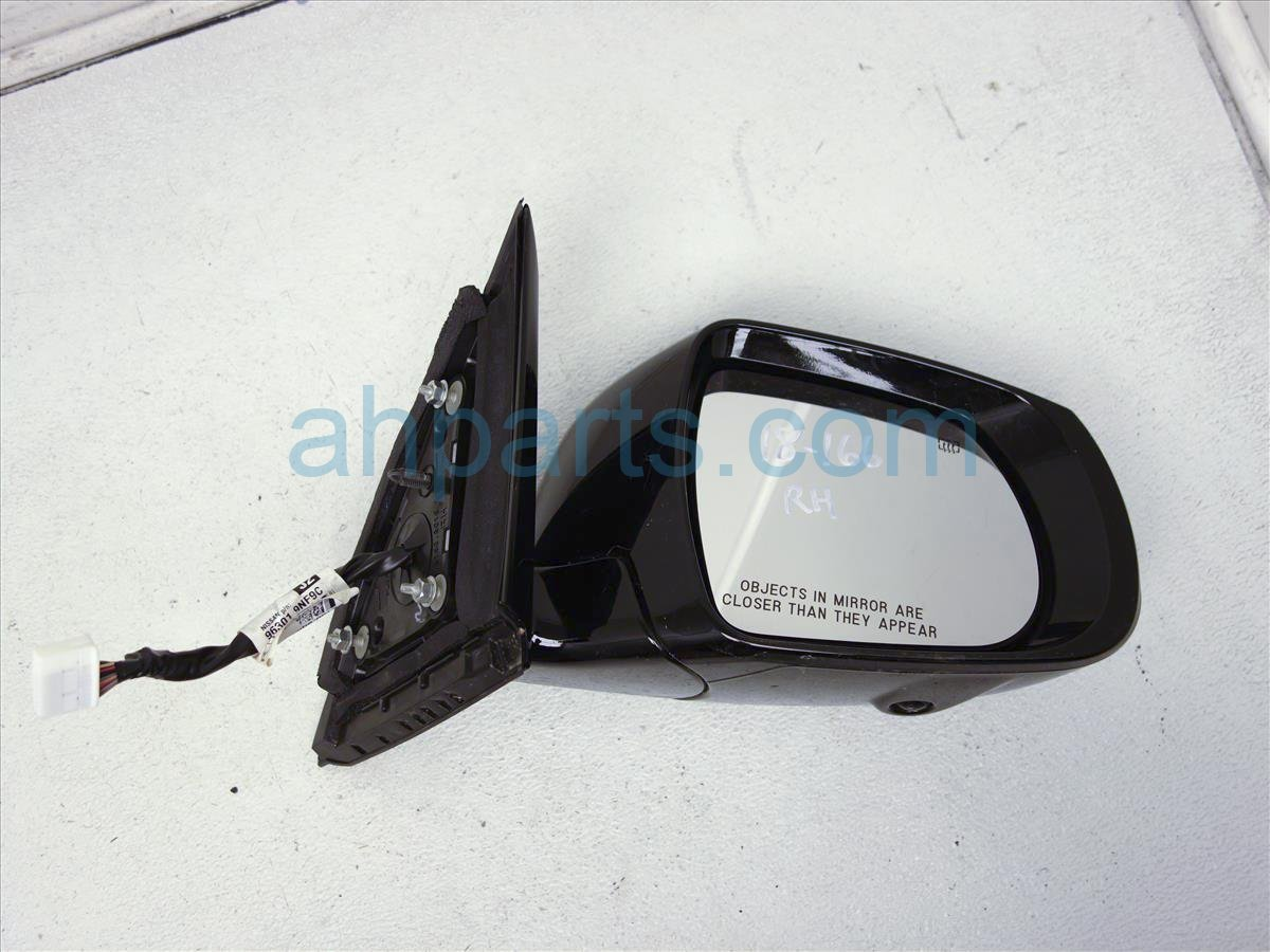 2017 Infiniti Qx60 Passenger Side Rear View Mirror   Black 96301 9NF9C Replacement