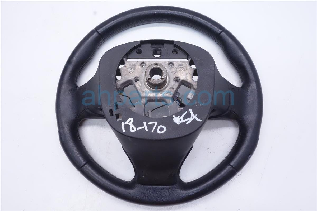 2015 Infiniti Q50 Steering Wheel Black Leather No Heat 48430 4GA1E Replacement