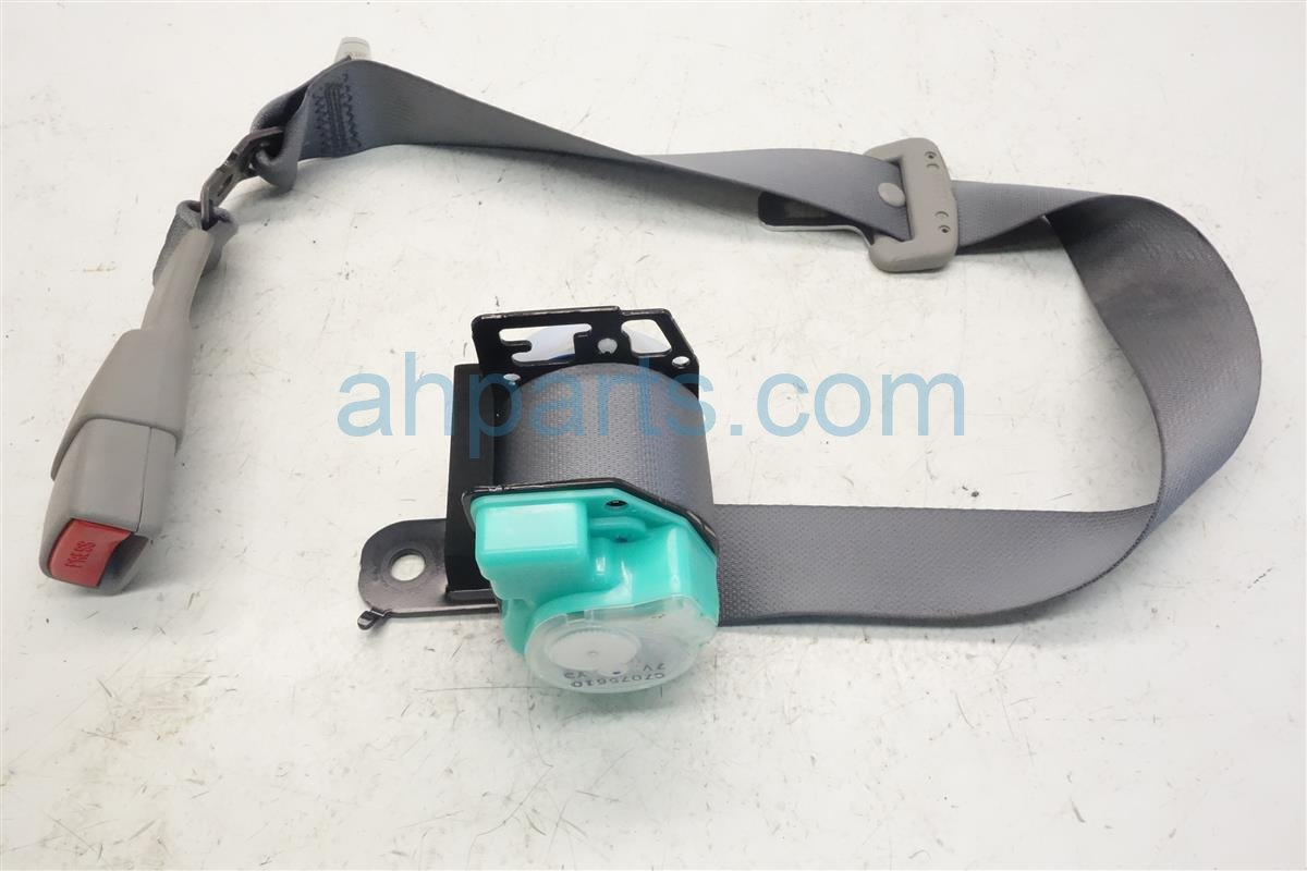 2010 Toyota Corolla Rear Mid Seat Belt Gray Replacement