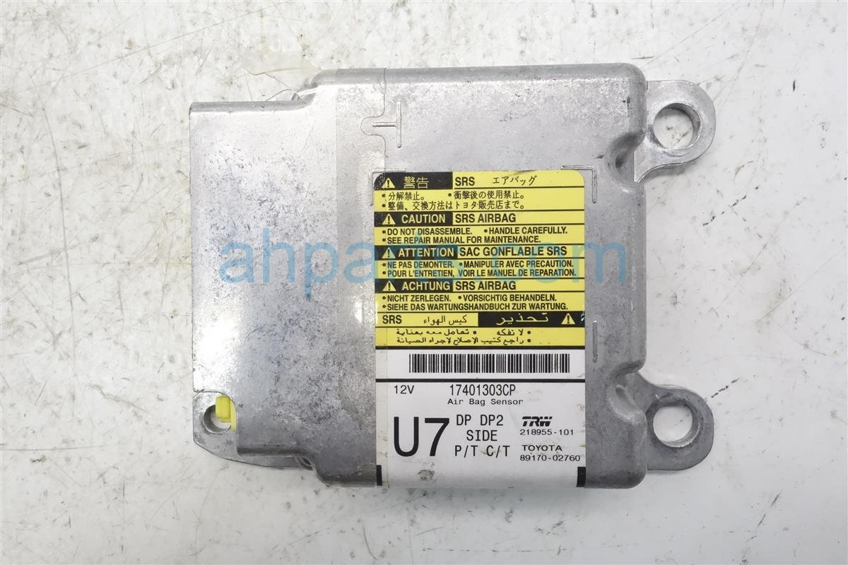 2010 Toyota Corolla Srs Airbag Computer 89170 02760 Replacement