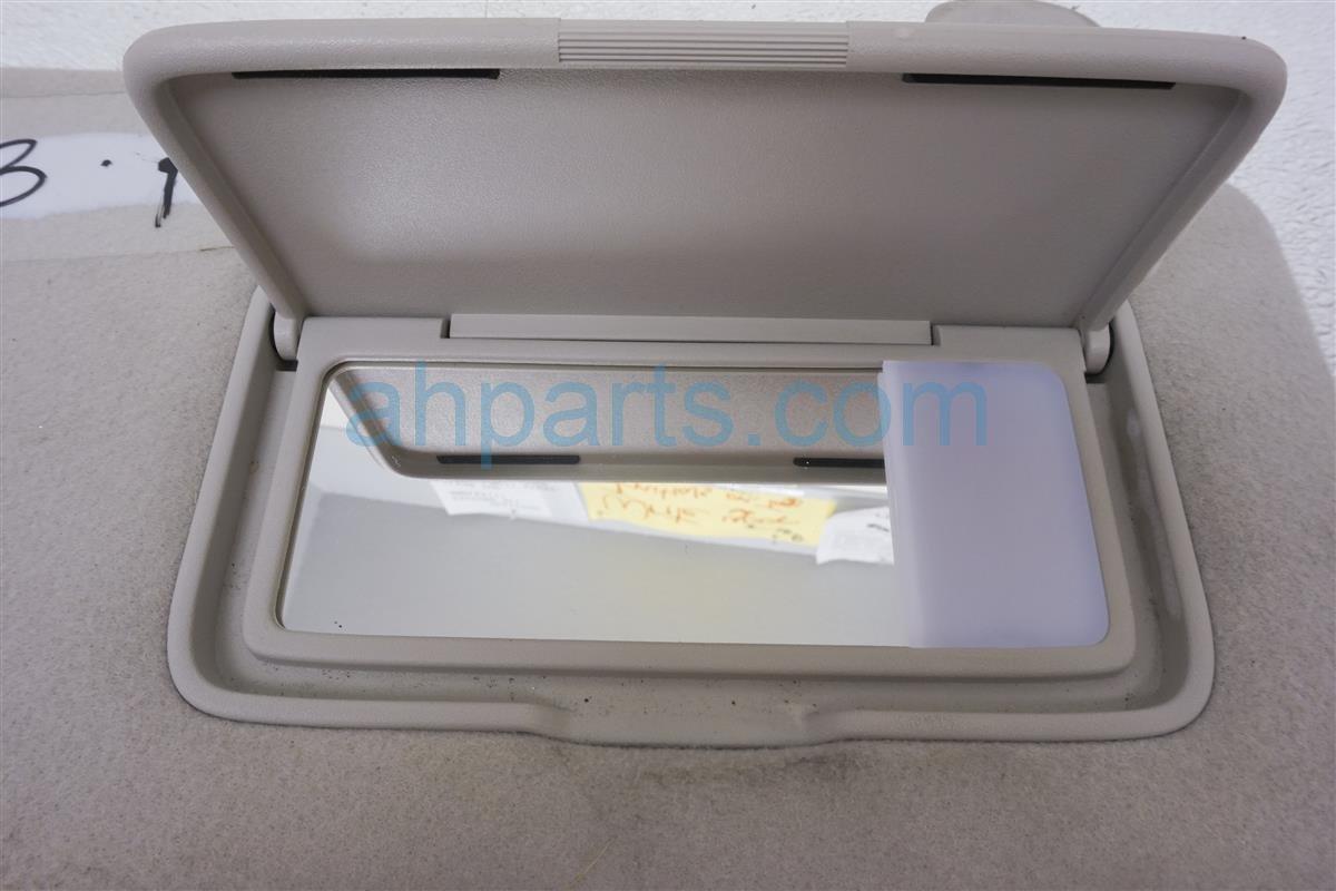 2013 Nissan Quest Passenger Sun Visor Gray 96400 1JA0A Replacement
