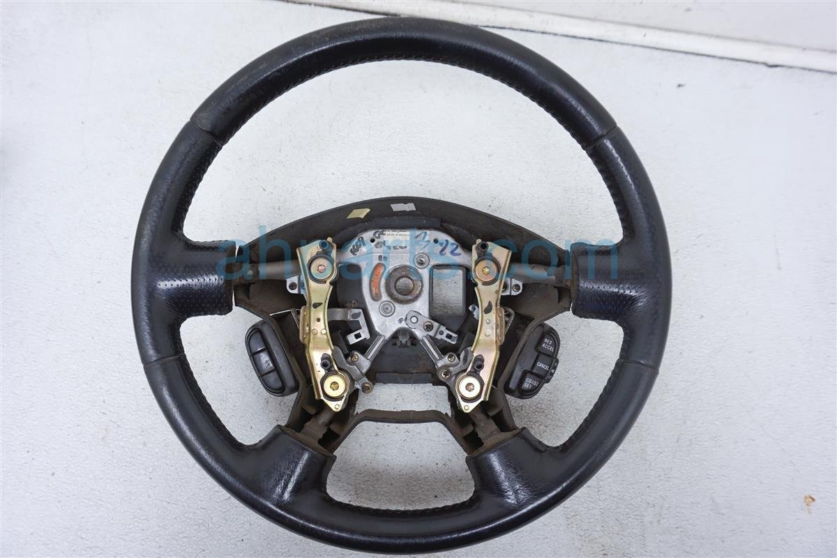 2001 Nissan Frontier Steering Wheel   Black Leather 48430 9Z414 Replacement