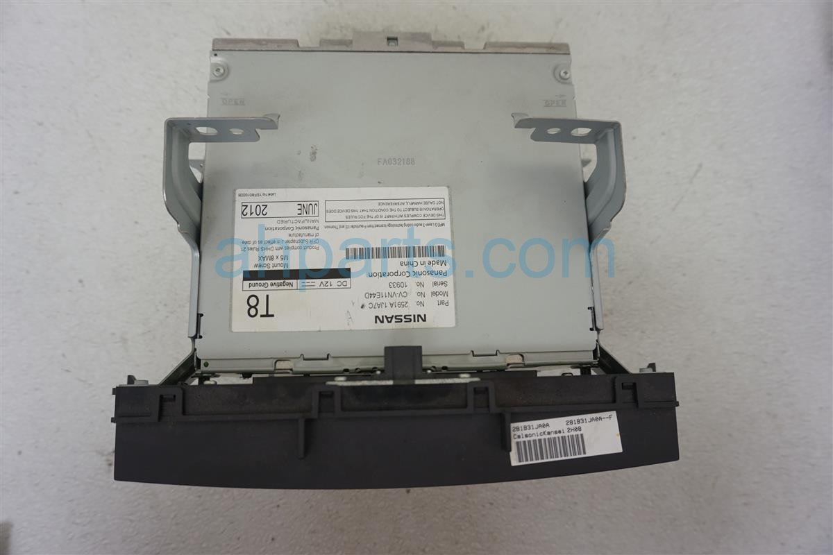 2013 Nissan Quest Reciever Disk Changer 2591A 1JA7C Replacement