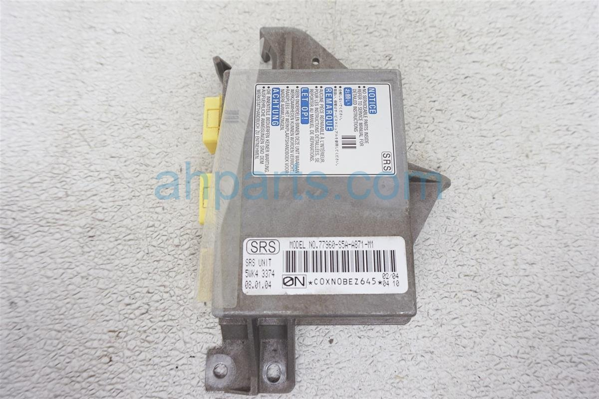 2004 Honda Civic Srs Airbag Computer Bad Needs Reset 77960 S5A A88 Replacement