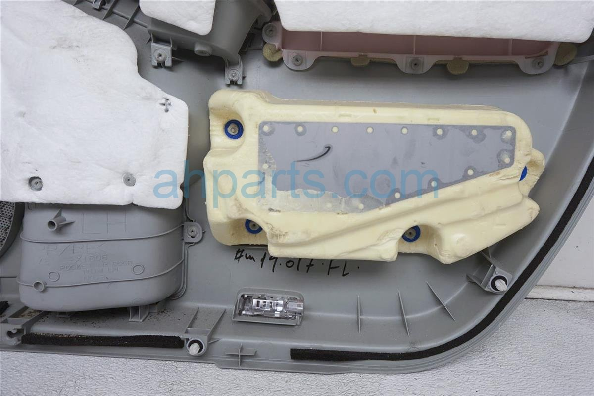 2012 Toyota Prius Trim / Liner Front Driver Door Panel No Switch Gray Cloth 67620 47603 C1 Replacement