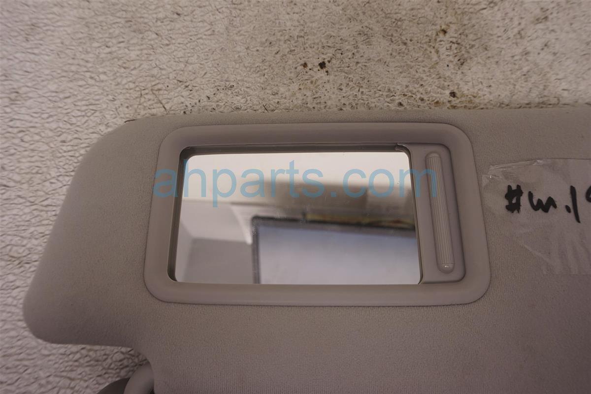 2012 Toyota Prius Passenger Sun Visor Gray 7431047210B0 Replacement