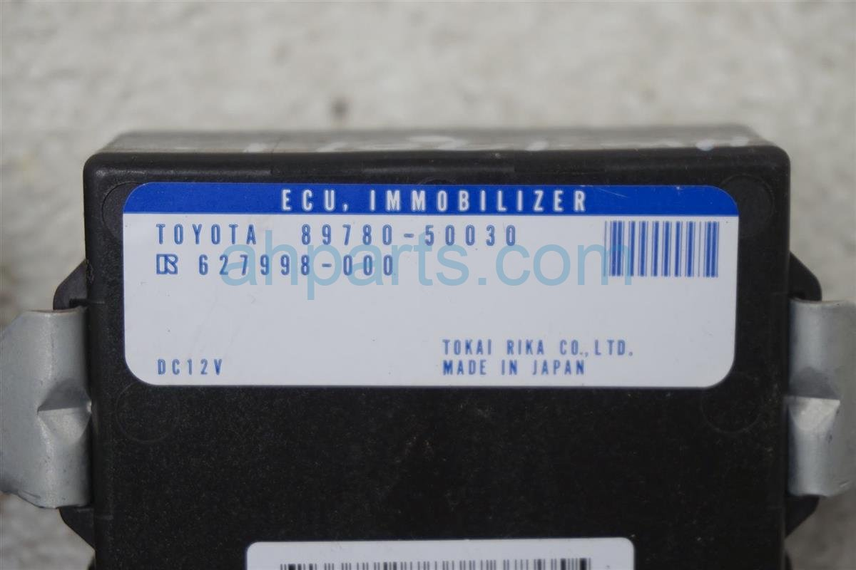 2001 Lexus Ls430 Transponder Ecu Immobilizer Unit 89780 50030 Replacement